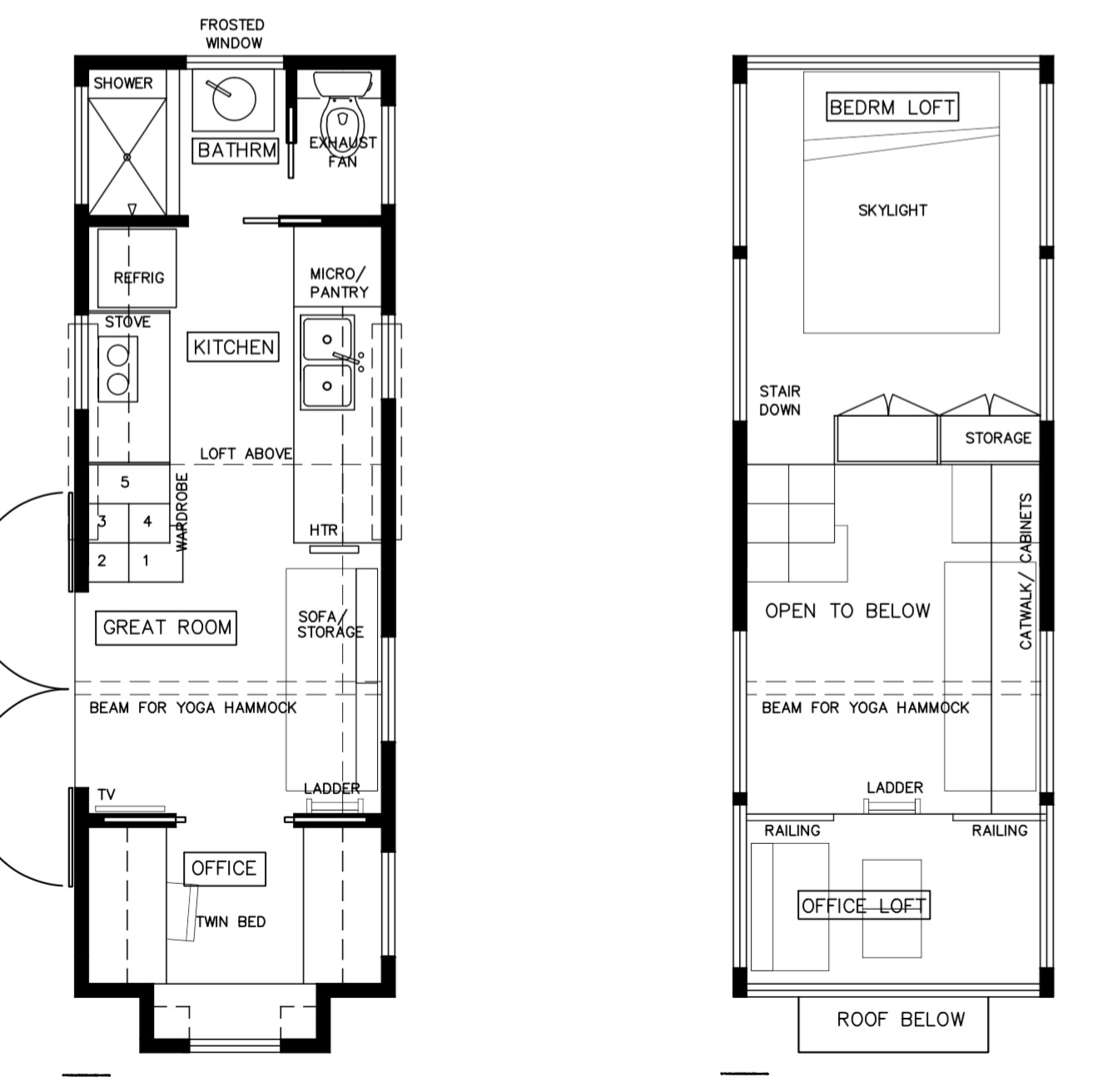 Light Haus Tiny House Floor Plan