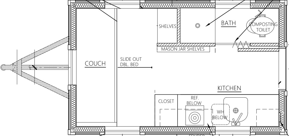 Salsa Box Tiny House Floor Plan