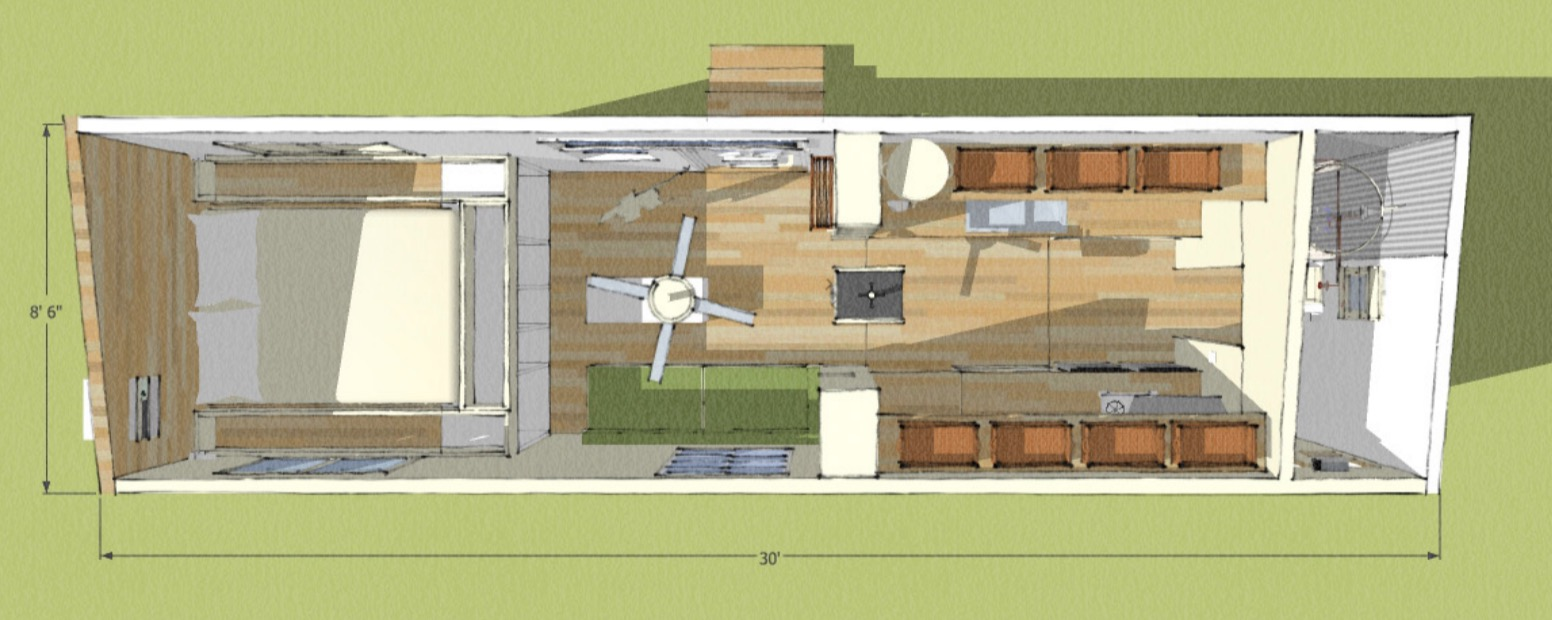 T1 Tiny House Floor Plan