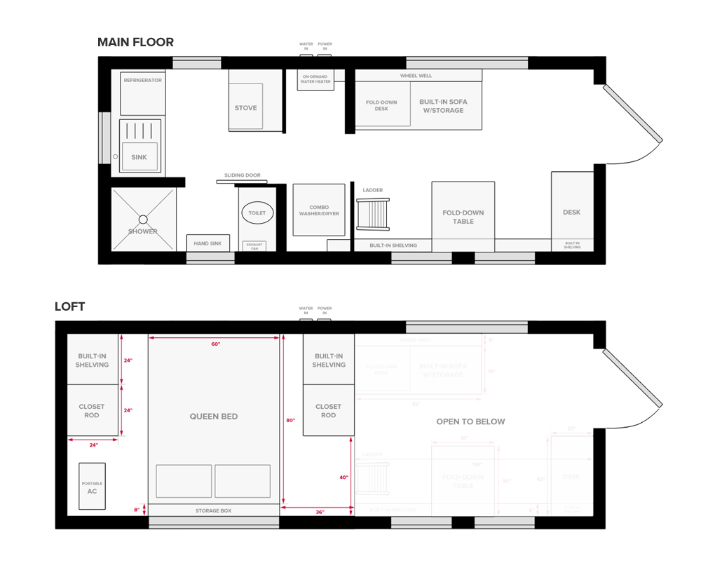 Tiny Project Tiny House Floor Plans