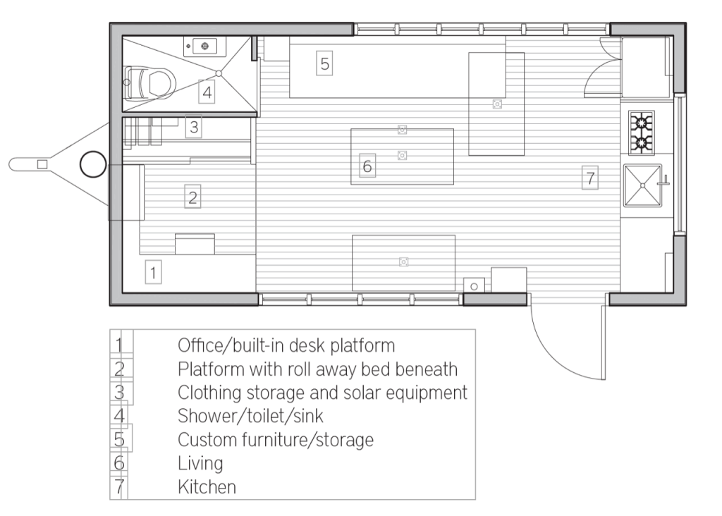 The Minim Tiny House 11 X 22 5 Tiny House Plans
