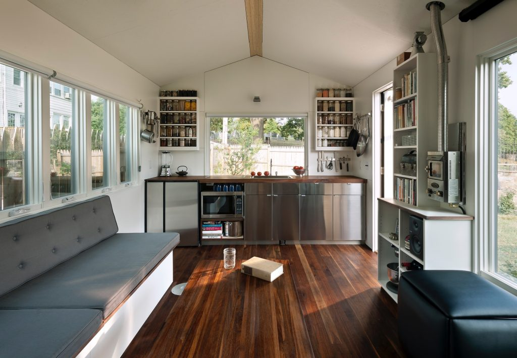 Minim tiny house living room