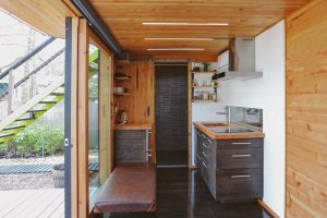 Model One container tiny house plans