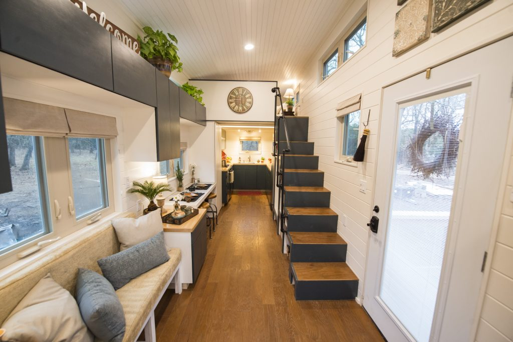 hOMe 28' Tiny House Income Rental - Up the Stairs